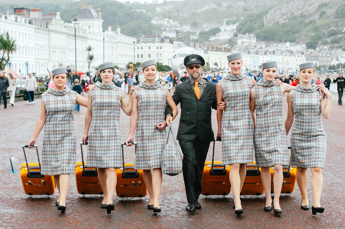Adain Avion with Captain Rees and Attendants in LLandudno